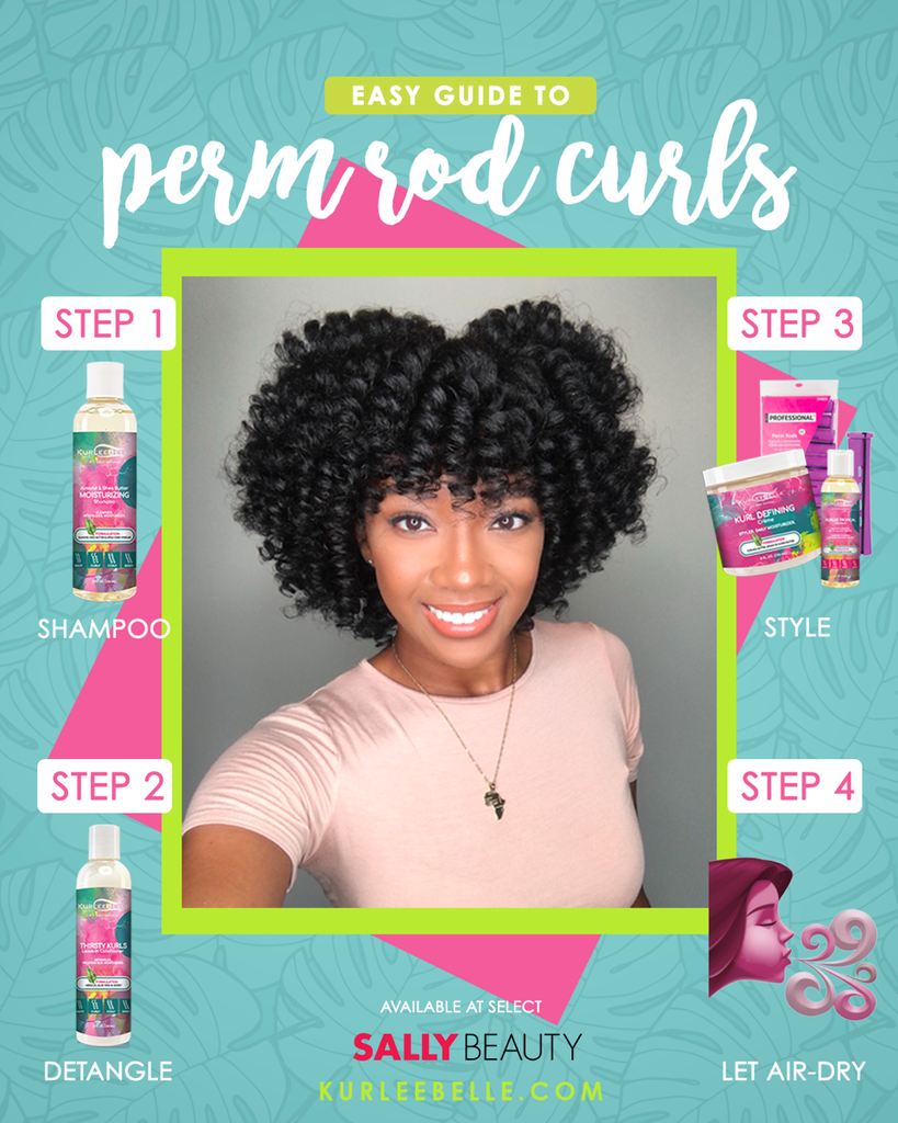 Easy Guide to Perm Rod Curls with Kurlee Belle!