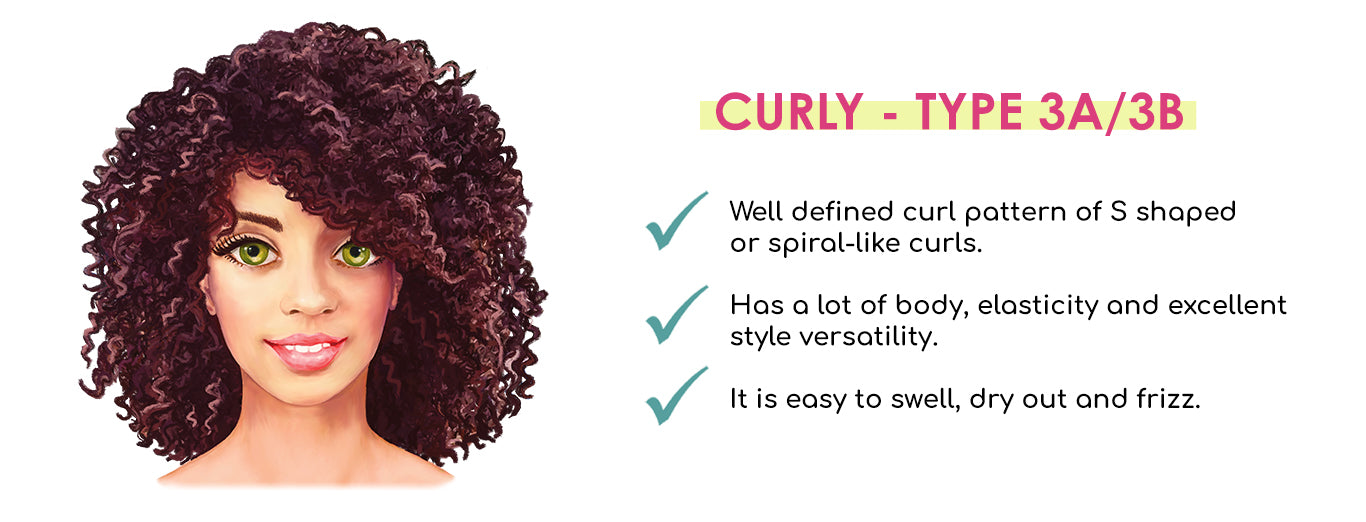 Curly Hair Texture Guide Facts Type 3A and 3B