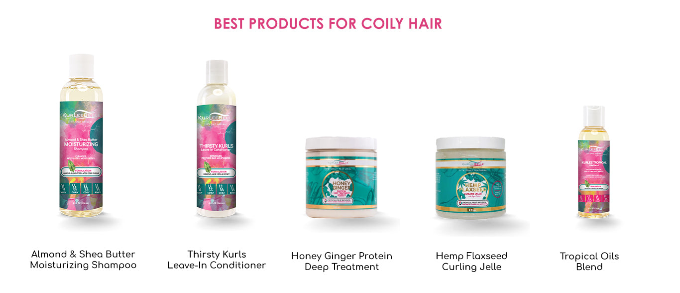 KurleeBelle products for coily hair type 4B and type 4C