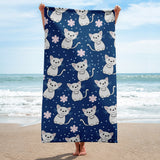 Cats Galore Full printed Beach towel