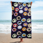 Cat Booble Full Printed Beach towel