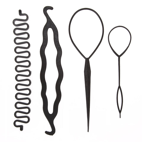 4Pcs Magic Hair Braiding Tool Kit