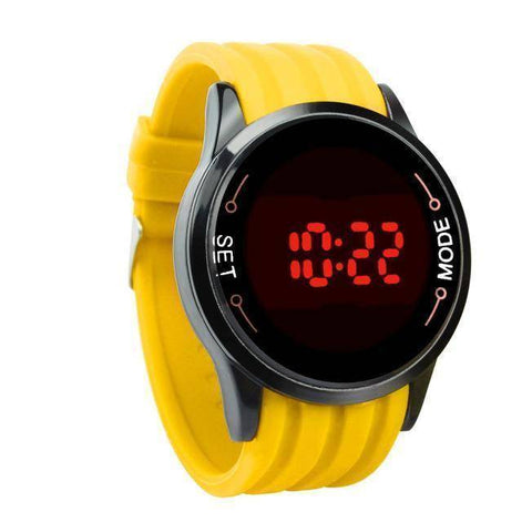 Waterproof Mens Watch LED Touch Screen Date Silicone Wrist Black Watch