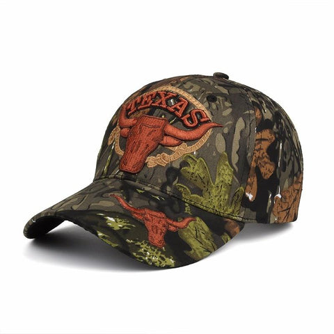 TEXAS Embroidery Camouflage Baseball Cap Adjustable