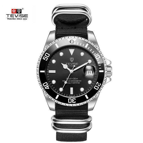 Tevise Brand Mens Mechanical Watch Automatic Role Date Fashion Luxury Submariner Self Winding