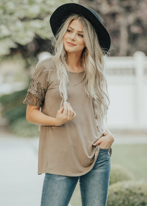 Tiered Lace Sleeve Top