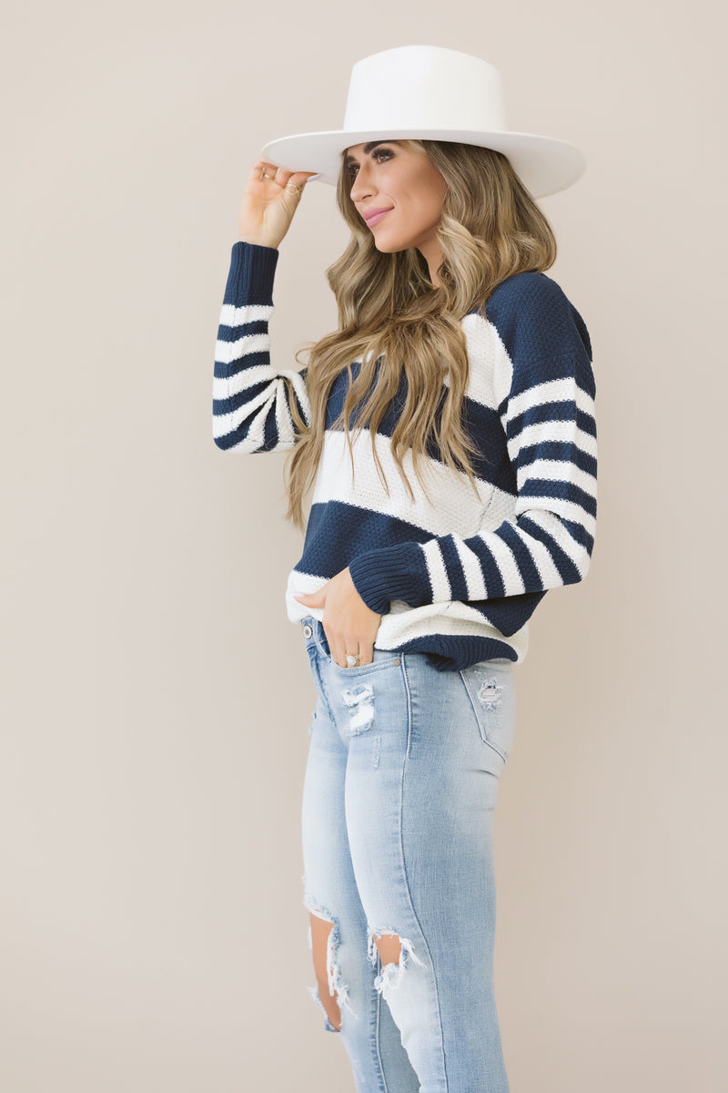 Stripe It Up Sweater