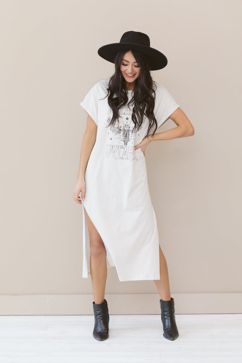 Dream On T-Shirt Dress