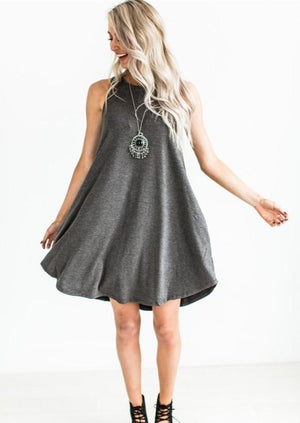 Spring Pocket Swing Dress