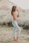 Zella Blue Mom Jeans