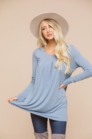 Pleated Tunic Top
