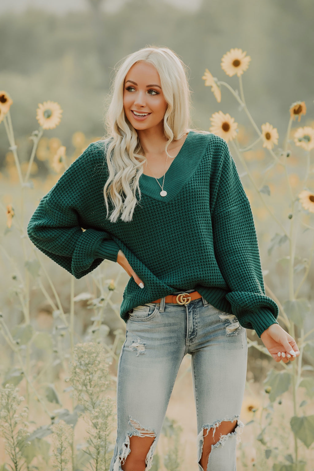 Mellow Mornings Sweater // Forest Green