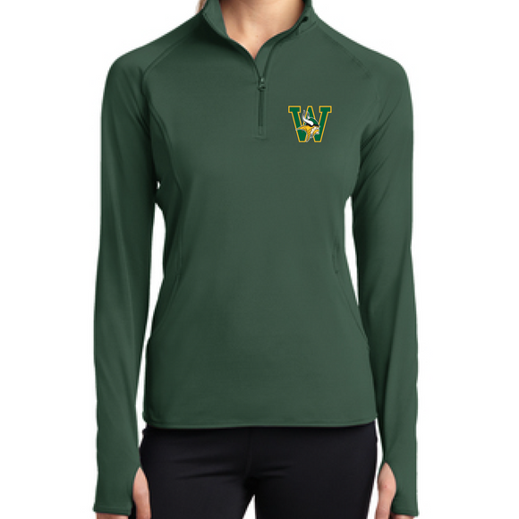 WSHS Sport-Tek® Ladies Sport-Wick® Stretch 1/2-Zip Pullover
