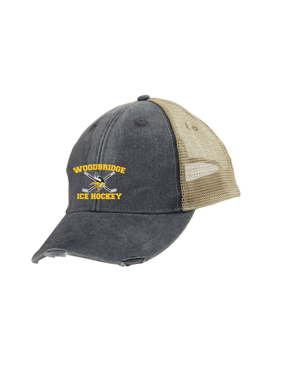 WSHS Ice Hockey Distressed Ollie Cap