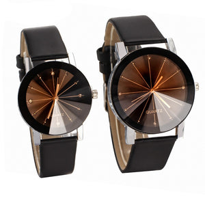 Lover's Delicate Leather Band Quartz Wristwatch