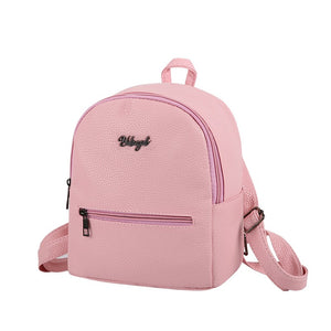 PU Soft Leather Women's Casual Small Packet Stylish Backpacks