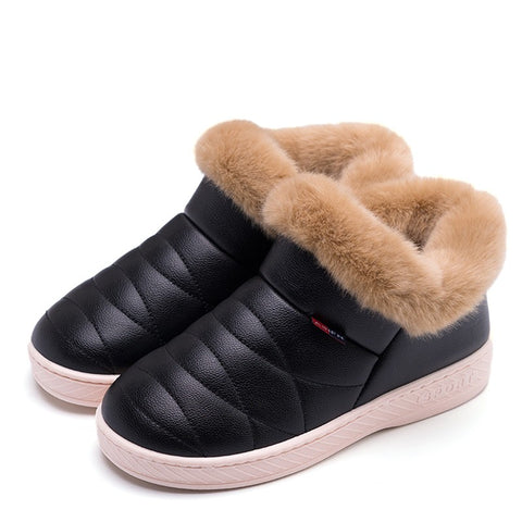 Women's PU Waterproof Snow / Fur Ankle Boots