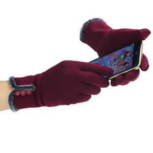 Mobile Phone Usable Wool Made Wrist Gloves/Mittens - shoppingridge