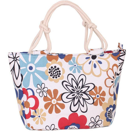 Trendy  Flower Printing Big Size Handbag