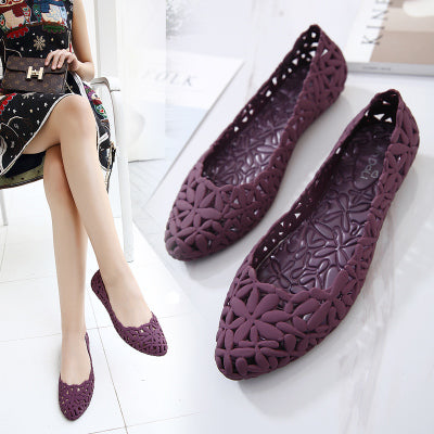 Women's Flowers Design Jelly Pumps-Sandal Shoes