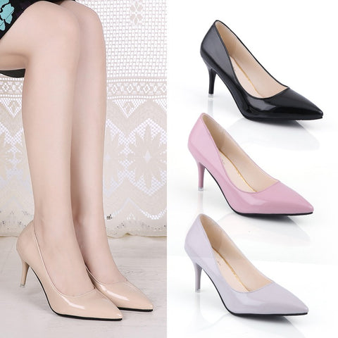 Women Sexy Pointed Toe Sweet High Heels