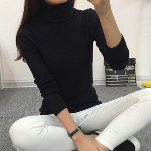 Women Turtleneck Outerwear Sweater - shoppingridge