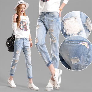 Women  Middle Waist Jeans - shoppingridge