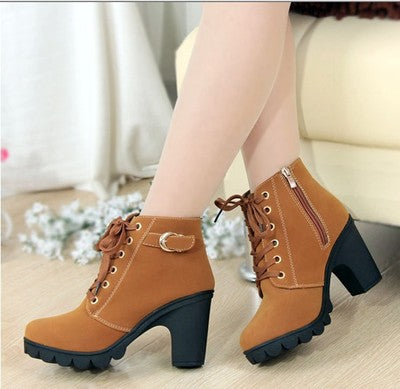 High Quality Lace-up Women's Anti-Slip Ankle Boots
