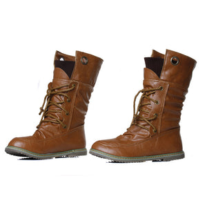 PU Leather Ankle/Snow  Lace UP Boots For Women