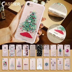 Christmas Emboss Phone Case For iPhone 5 to iPhone X - shoppingridge