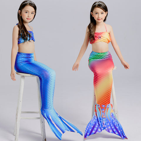 Little Mermaid Tail Costume Dresses For Little Girls