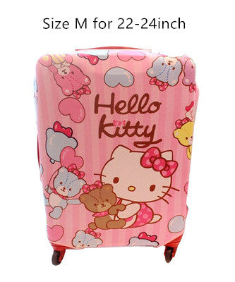 Hello Kitty Cat Elastic Fabric Protective Luggage Covers - shoppingridge