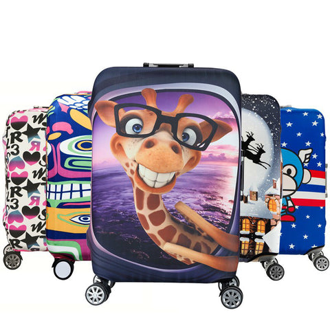 Elastic Stretchable Cartoon Printed Luggage Protective Cover - shoppingridge