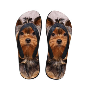 Cute 3D Pet Cat DOG  Printed Women Slippers