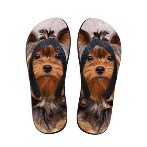 Cute 3D Pet Cat DOG  Printed Women Slippers - shoppingridge