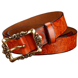 Genuine Leather Fashion Belts For Women - shoppingridge