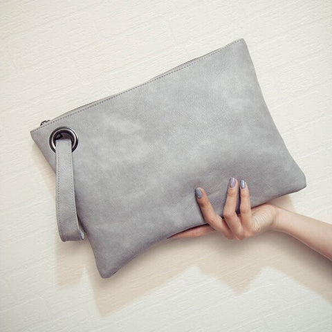 Solid Leather women's Clutch Bag