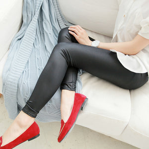 Leather Stretchy Thin Sexy Legging for Women - shoppingridge