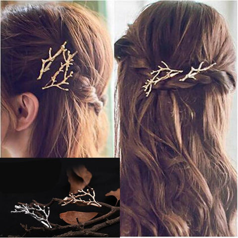 Fashionable Branches Flower Geometric Hairpin / Hairband - shoppingridge