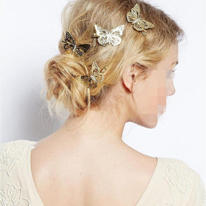Hollow Butterfly Hairpins/Clips Bride Hairwear Jewelry - shoppingridge