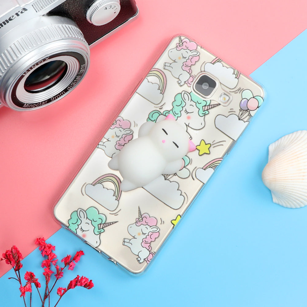 competitive price 8be16 e7d10 Funny Cute Cat Squishy Phone Case for Samsung