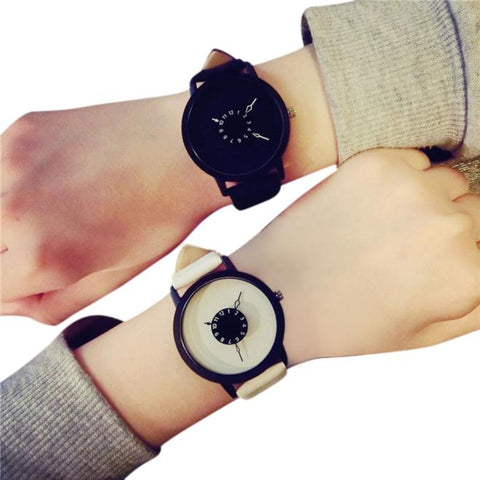 Lovers Leather Quartz Couple Watches for Men & Women