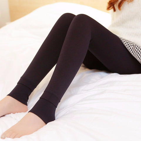 Hot Women's Elastic Thick Velvet Pants/Warm Leggings - shoppingridge