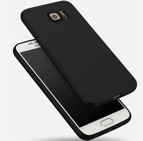 Ultra Black Matte Soft Silicon Case for Samsung Galaxy