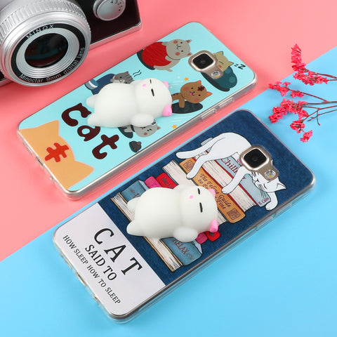 Funny Cute Cat Squishy Phone Case for Samsung
