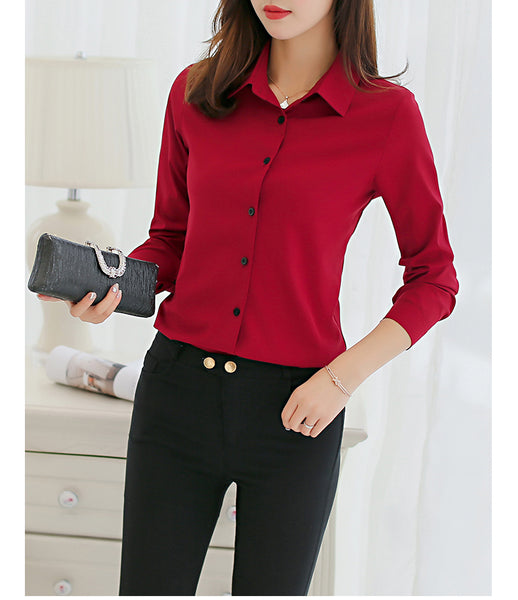 Women's Chiffon Office Decent Look Shirts - shoppingridge