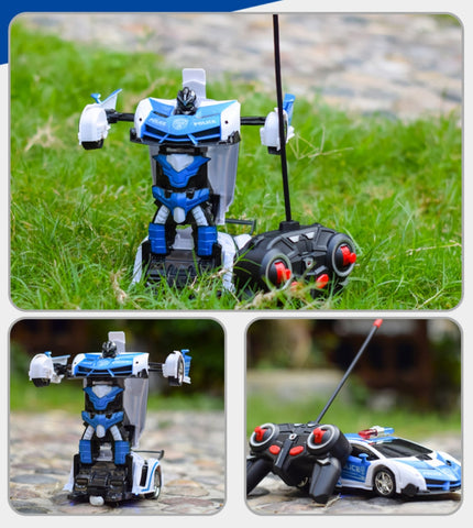 RC Car Transformation Robots Sports Car for Kids