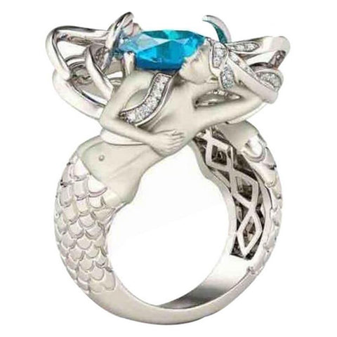 925 sterling silver mermaid ring