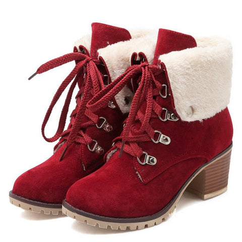 Women's Synthetic High Heels Ankle/Snow Boots