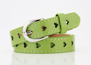 Hollow Heart Symbol Fashion Belts  For Women (102 CM ) - shoppingridge